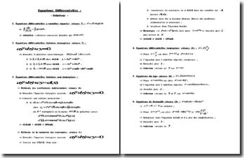 Résolution de quelques types d'équations différentielles