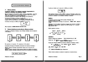 Calcul des dissipateurs thermiques