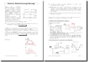 Fonction Echantillonnage/Blocage