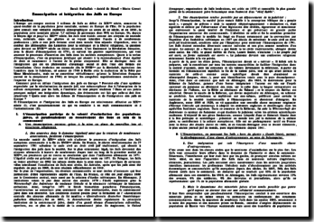 Emancipation et intégration des Juifs en Europe