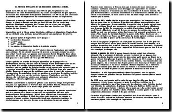 Les grands changements de la société française - La France paysanne et le désarroi agricole actuel