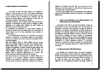 La réforme judiciaire de la constituante de 1791