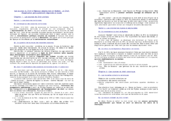 Les sources du Droit à l'époque seigneuriale et féodale : un Droit d'application principalement régionale et locale