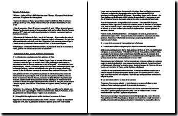 Commentaire de l'Arrêt Lemaistre du 28 juin 1593 - consécration définitive du principe de catholicité comme loi fondamentale et statut de la couronne