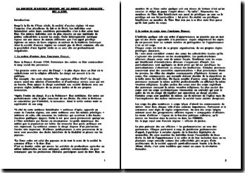 La société d'Ancien Régime ou le droit sans légalité de 987 à 1789