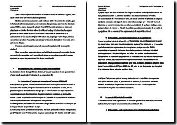 La Constitution de l'Assemblée Nationale 1789
