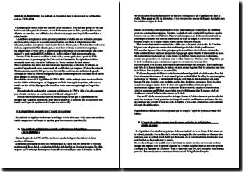 La méthode de législation dans le mouvement de codification civil de 1793 à 1804.
