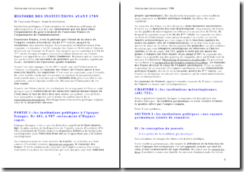 Histoire du droit - les institutions publiques, administratives, religieuses et politiques