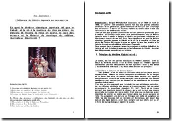 Eisenstein : L'influence du théâtre Japonais sur ses oeuvres