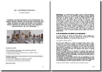 Les Politiques Culturelles : Le musée Guimet