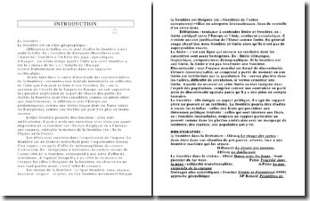 Géographie des Frontières (Partie 1/3)