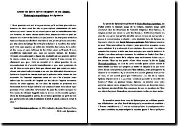 Traité Théologico-politique de Spinoza (chapitre 16)
