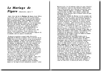 Le mariage de Figaro - Beaumarchais - Commentaire