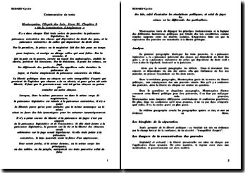 Montesquieu, l'Esprit des Lois, Livre XI, Chapitre 6
