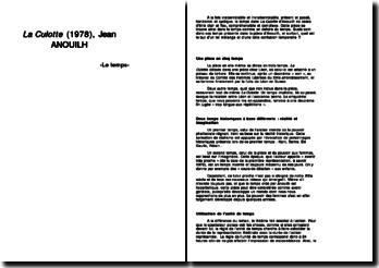 Le temps dans La Culotte (1978) de Jean ANOUILH