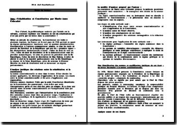 Cohabitation et Constitution - Marie-Anne Cohendet
