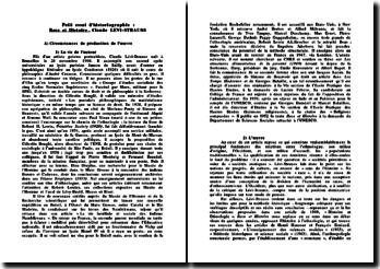 Race et histoire - Levi Strauss