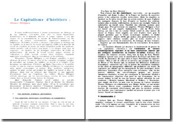 Le Capitalisme d'héritiers - T. Philippon