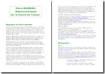 Raisons pratiques sur la théorie de l'action - Pierre Bourdieu