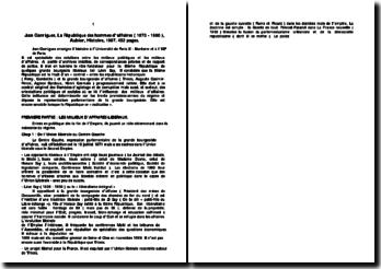 La République des hommes d?affaires (1870 - 1900) - Jean Garrigues