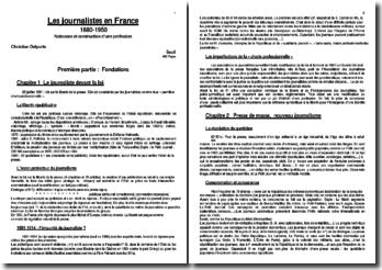 Les journalistes en France 1880-1950 Naissance et construction d?une profession - Christian Delporte