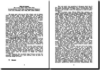 The twenty years' crisis, 1919-1939 - E. H. Carr