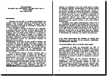 Un monde sans souveraineté : les états entre ruse et responsabilité - Bertrand Badie