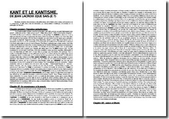 Kant et le kantisme - Jean Lacroix