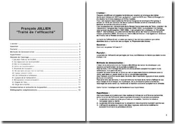 Traité de l'efficacité - François Jullien