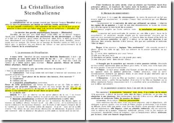 La Christallisation Stendhalienne