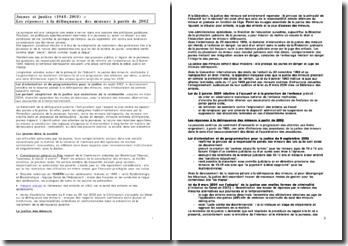 Jeunes et justice (1945-2005) ? Les réponses à la délinquance des mineurs à partir de 2002