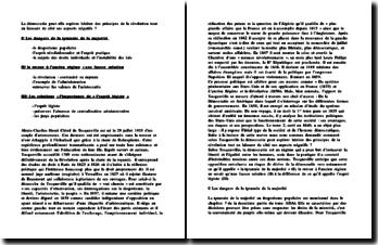 L'apport de Tocqueville en matiere de philosophie