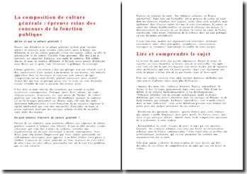 Méthodologie de la dissertation de culture générale