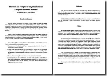 Discours sur l'origine et les fondements de l'inégalité parmi les hommes - Rousseau
