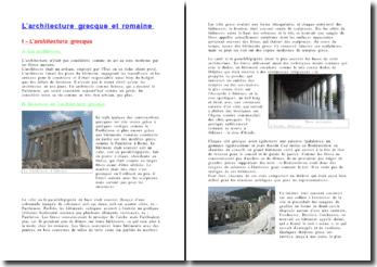 Les architectures grecques et romaine dans l'antiquité
