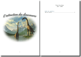 L'extinction des dinosaures