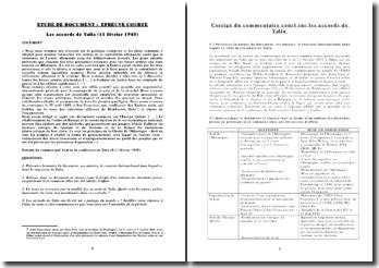 Les accords de Yalta (11 février 1945)