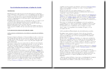 La révolucion mexicana, el plan de Ayala