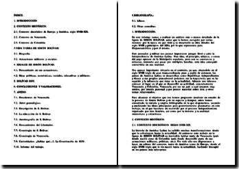 Exposé sur Simon Bolivar
