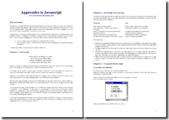 Apprendre le Javascript