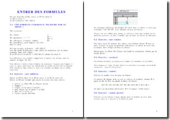 Comment entrer des formules et des fonctions sous Excel