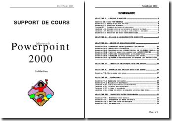 Cours d'initiation à Powerpoint 2000