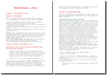 Introduction à Access