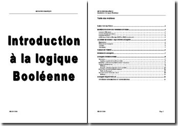 Introduction à la logique Booléenne