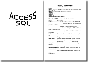 Cours: ACCESS SQL