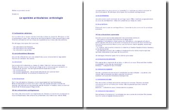 Le système articulaires: arthrologie