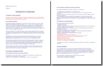 Introduction et généralités sur l'anatomie
