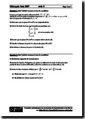 Mathématiques Série S 2007 Énoncés
