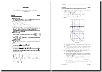 Mathématiques Série S 2008 Afrique