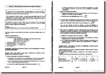 Baccalauréat série S Liban 2008 : physique-chimie